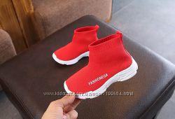 Детские текстильные демисезонные кроссовки-сапожки