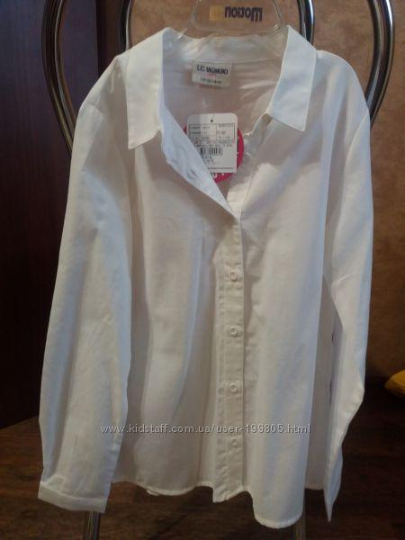 Классическая белая рубашка на девочку Lc Waikiki