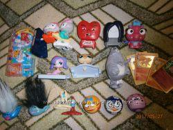Наши фирменные игрушки с Макдональдса и др