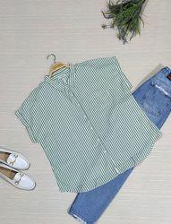 Натуральная блуза в стиле кэжуал