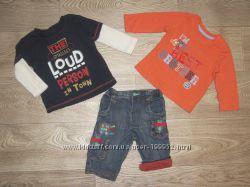 Комплеткты фирменной одежки мальчику 0-3-6 месяцев ч 2