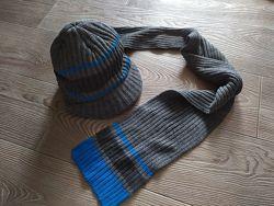 Комплект кепка и шарф George 8-12лет Новый