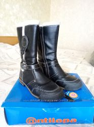 Демисезонные сапоги фирмы Антилопа 37 размера для девочки