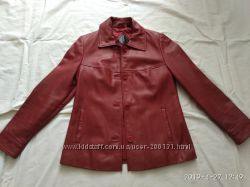 Благородный кожаный пиджак, р. 46-48
