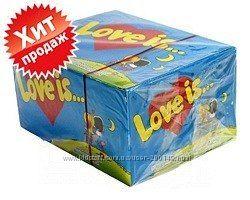 Блок жвачки Love is, Вкус детства и 100 вкладышей о настоящей любви