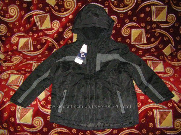Теплые яркие осенне-зимние термокуртки  134-146 см