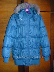 Красное пальто, осенне-зимняя куртка, бирюзовая 140 см