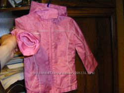 Бесподобная  куртка-ветровка, бирюзовый плащ  девочке   98-116