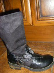 Бомбезные  GEOX, Осенне-зимние  кожаные  сапожки ТСМ  р. 34-35