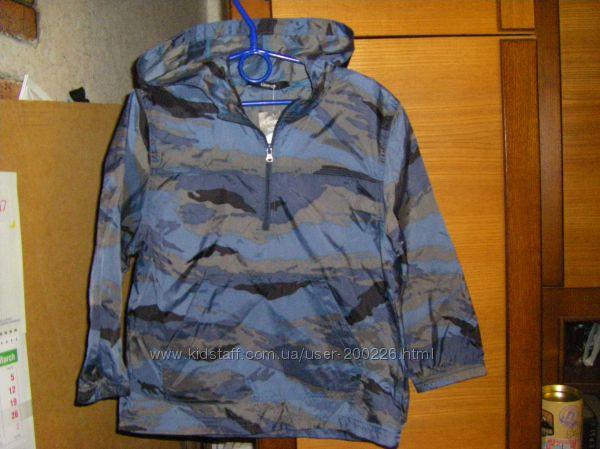 Новые, непромокаемые куртки-дождевики, грязепруфы на флисе 110-140