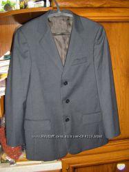 Школьные пиджаки, синий, черный полоскаа на мальчика, рост 128-158