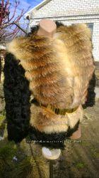 Шубка из натурального меха козлика и лисы в наличии