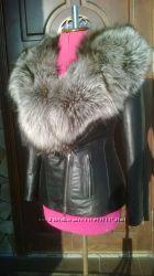Куртка косуха с мехом чернобурки в наличии