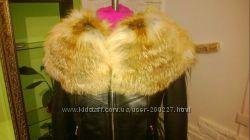 Куртка с мехом лисы в наличии