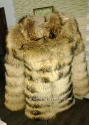 Шуба - жилет трансформер из натурального меха енота