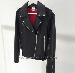 Куртка косуха прямого кроя из натуральной кожи