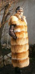 Шикарный жилет из меха лисы поперечной кладки шкур