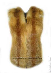 Цельный жилет из лисы в наличии