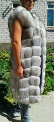 Шикарный жилет из натурального меха песца в наличии