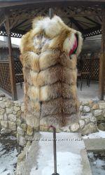 Жилет трансформер из натурального меха лисы в наличии