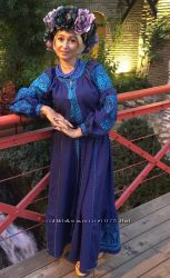 Платье- вышиванка в БОХО- стиле