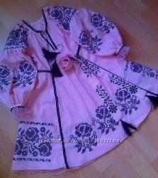 Вышитое платье с сеткой