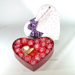 Подарочные наборы из мыла-бутонов роз