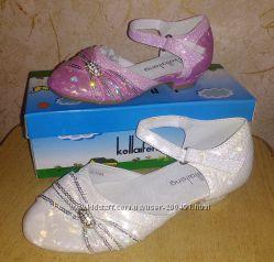 Нарядные туфельки на праздник Стельки 15, 5-16. 5 см Размеры 23-25