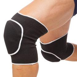 Наколенники спортивные тканевые эластичные черные