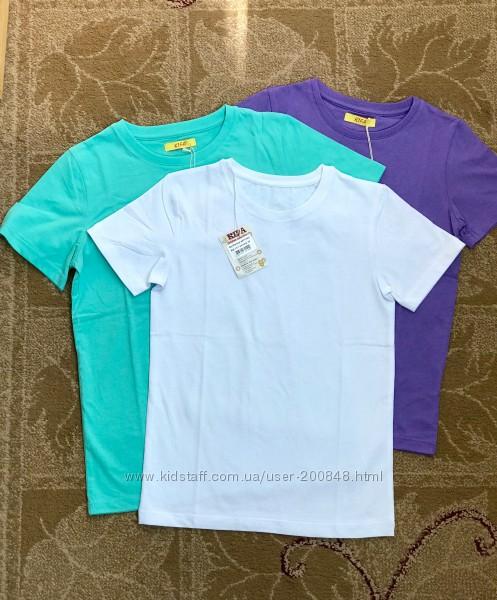 Детские футболки однотонные