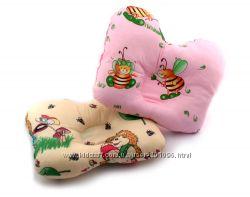 Ортопедическая подушка для новорожденных бабочка ОП-2 цветные