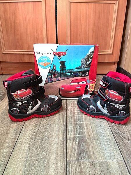 Сапоги -ботинки Disney Тачки Маквин 24, 28 р Бельгия. Зима