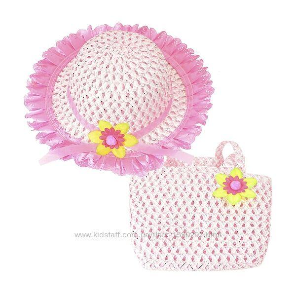 Шляпа летняя и сумочка для девочки 50-52
