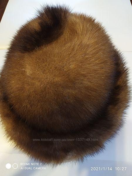 Женская норковая зимняя шапка