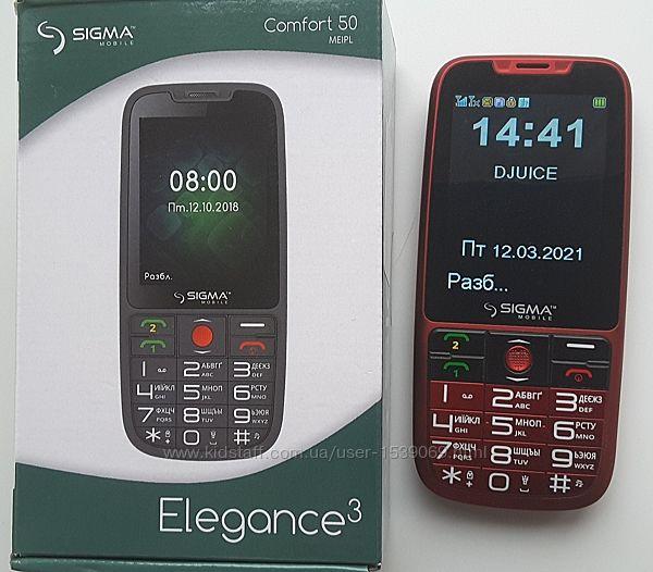 Телефон,  Sigma Comfotr 50 Elegance 3