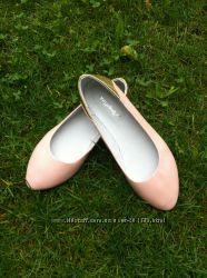 Шикарные балетки цвета пудры