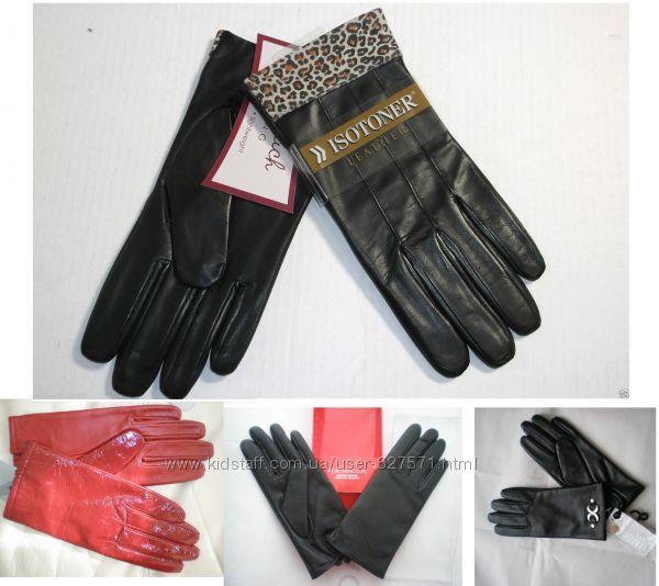 Дорогие кожаные перчатки из США  - кожа LUX