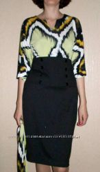 Деловое дорогое платье-футляр р. 46-48 Куплено в США  - Распродажа