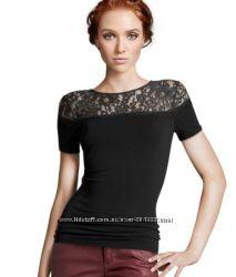 Белая и Чёрная Красивые Блузки-футболки Н&M, р XS, S, М
