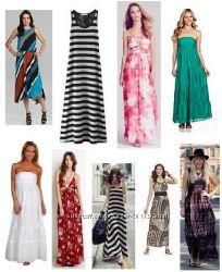 Стильные летние макси сарафаны и платья из США - Шёлк Шифон Коттон Вискоза