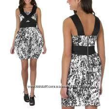 Стильное черное белое коттон платье США р. S-М. Большой выбор Calvin Klein