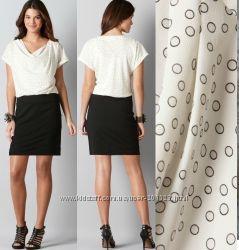 Стильное черно-белое платье ANN TAYLOR Loft USA p M, Calvin Klein p S, M, L