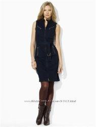 RALPH LAUREN USA - Дорогое стильное джинсовое платье на замке , p S, M