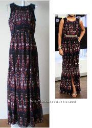 Шифоновое макси платье H&M USA, p XS, S