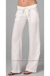 Лён Белые стильные летние  льняные брюки из США размер S, M