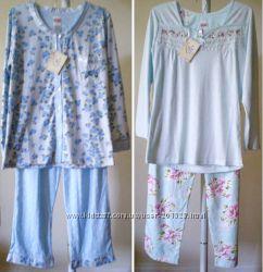 Дорогие пижамы BODY TOUCH Jessica Simpson Victorias Secret голубой розовый