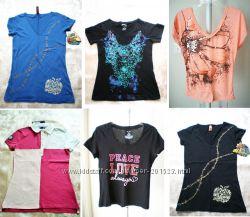 Фирменные футболки из США Tommy Hilfiger, H&M, Apple Bottoms Большой Выбор