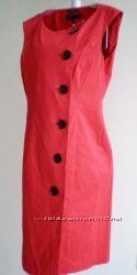 Стильное красное котоновое платье Annе Klein, Taylor, Calvin Klein p M, L