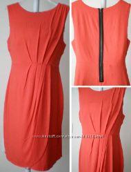 Морковно Красное натуральное платье Merona, Taylor, Calvin Klein p M, L