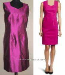 Шёлк розовые красные платья из США Taylor, Talbots, Calvin Klein  р S, M, L